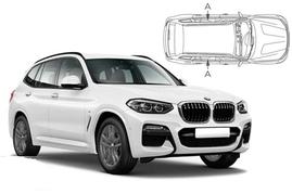 Slnečné clony na okná - BMW X3 (2017-) - Len na bočné stahovacie sklá (BMW-X3-5-C/18)