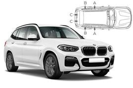 Slnečné clony na okná - BMW X3 (2017-) - Komplet sada (BMW-X3-5-C)