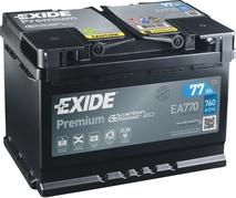 Autobatéria EXIDE Premium 77Ah, 760A, 12V, EA770 (EA770)