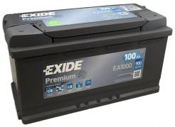Autobatéria EXIDE Premium 100Ah, 900A, 12V, EA1000 (EA1000)