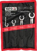Sada kľúčov prstencových 4ks 8-17 mm polootvorené (YT-0143)