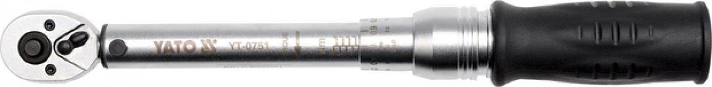 """Kľúč momentový 1/4"""" 2-10 Nm CrV (YT-0751)"""