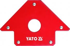 Uholník magnetický 102x155x17mm na zváranie s otvorom (YT-0864)