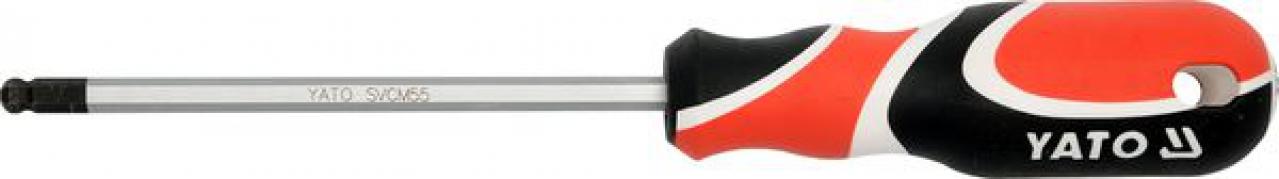 Skrutkovač imbus 5 mm guľový magnetický (YT-1534)