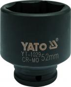 """Nadstavec 1/2"""" rázový šesťhranný 52 mm CrMo (YT-1029)"""