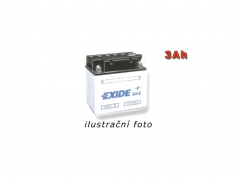 Motobatéria EXIDE BIKE Conventional 3Ah, 12V, YB3L-A (E5027)