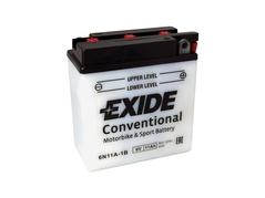Motobatéria EXIDE BIKE Conventional 11Ah, 6V, 6N11A-1B (E5051)
