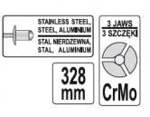 Pákové nitovacie kliešte 3,2 - 6,4 mm, dĺžka 328 mm (YT-36092)